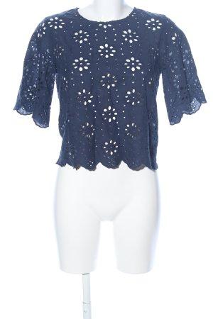 Mint&berry Spitzenbluse blau Casual-Look
