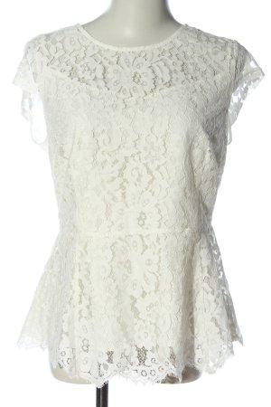 Mint&berry Blusa de encaje blanco elegante