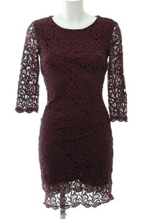 Mint&berry Lace Dress blackberry-red cotton