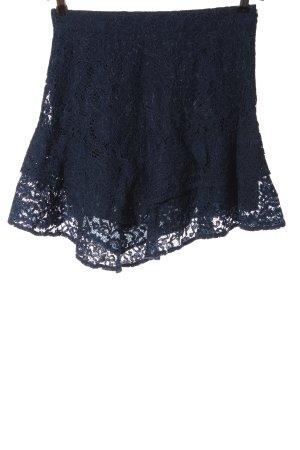 Mint&berry Spitzenrock blau Casual-Look