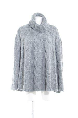 Mint&berry Poncho en tricot gris