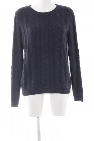 Mint&berry Strickpullover dunkelblau Casual-Look