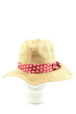 Mint&berry Chapeau de paille motif de tache style décontracté