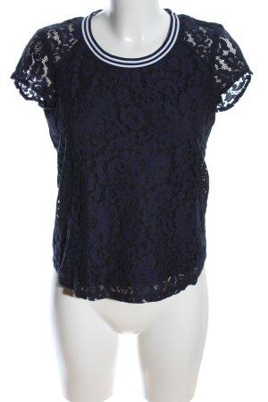 Mint&berry T-Shirt blau Blumenmuster Casual-Look