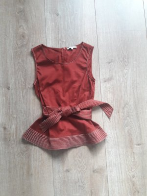 Mint&berry Peplum Top dark red