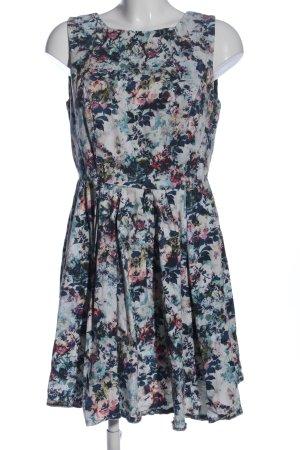 Mint&berry Blousejurk wit-blauw volledige print zakelijke stijl