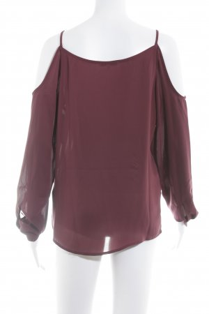 Mint&berry Transparenz-Bluse purpur Transparenz-Optik