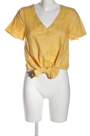 Mint&berry V-Ausschnitt-Shirt blassgelb Casual-Look