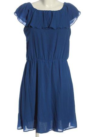 Mint&berry Volantkleid blau Casual-Look