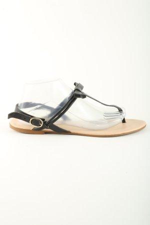 Mint&berry Zehentrenner-Sandalen schwarz Casual-Look