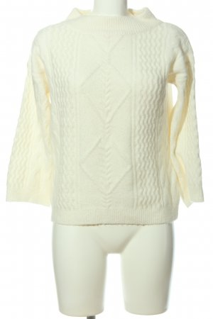 Mint&berry Zopfpullover creme Zopfmuster Casual-Look