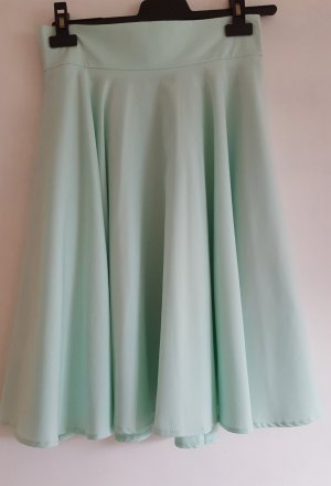 Chicwish High Waist Skirt turquoise polyester