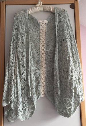 Mint-farbener Strick Cardigan von Zara