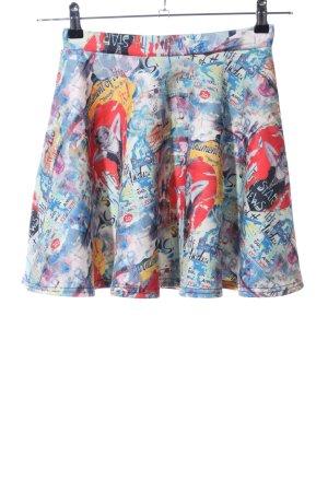 Circle Skirt themed print casual look