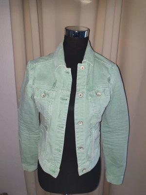 Mintfarbende Jeansjacke von Zara