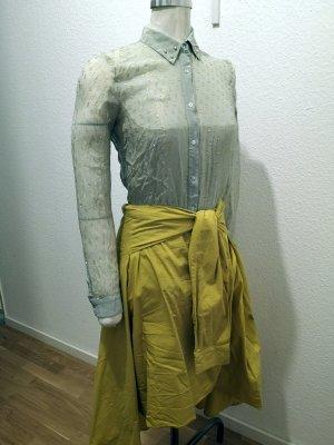 mintfarbene Seidenbluse Zara Woman mit Niete Gr. XS
