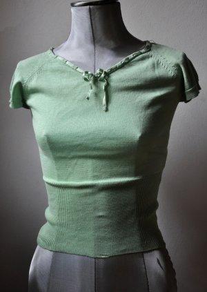 Mintfarbener Kurzarm-Pullover von Hessnatur