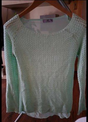 Arizona Pull en crochet vert menthe