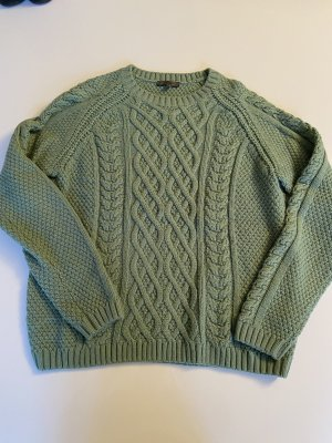 Montego Coarse Knitted Sweater mint-sage green