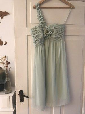 Mintfarbenes One Shoulder Kleid