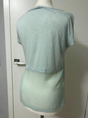 Mintfarbenes Shirt von Sisley, Gr. S mit transparenten Details.