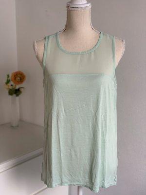 Mintgrüne ärmellose Bluse