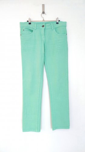 Mintgrüne, pastellfarbene Jeans - selten getragen