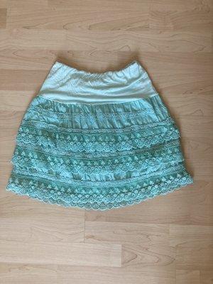 True Vintage Koronkowa spódnica Wielokolorowy