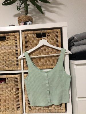 H&M Divided Top recortado verde grisáceo-verde claro