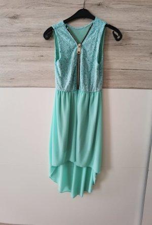 Robe bas asymétrique turquoise