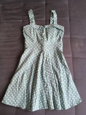 Apricot Babydoll Dress mint-white