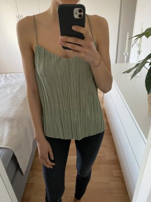 H&M Połyskująca bluzka miętowy