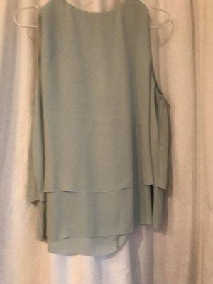 Mintgrünes Shirt ärmellos MNG