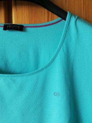 mintgrünes Shirt mit Swarovski-Logo von Escada Sport