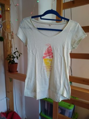 Mintgrünes T-Shirt mit buntem Eis