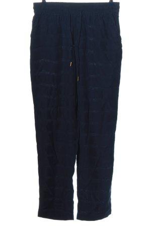 Minus Baggy broek blauw gestreept patroon casual uitstraling
