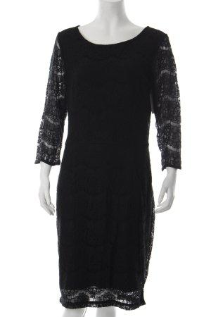Minus Spitzenkleid schwarz abstraktes Muster Elegant