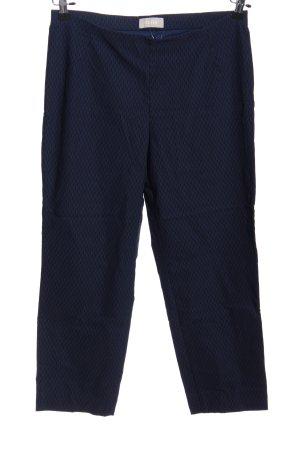 Minx 7/8-Hose blau Allover-Druck Business-Look