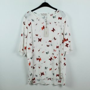 Minx Bluse Gr. XL weiß Schmetterlinge NEU (19/09/346*)