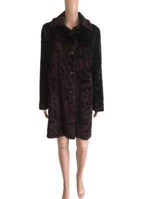 Minx by Eva Lutz Cappotto in eco pelliccia marrone scuro-marrone