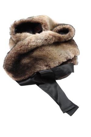 Minx by Eva Lutz Schoudersjaal bruin-zwart casual uitstraling