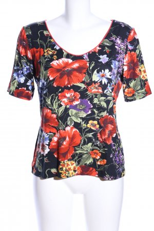 Minx Print-Shirt Allover-Druck Casual-Look