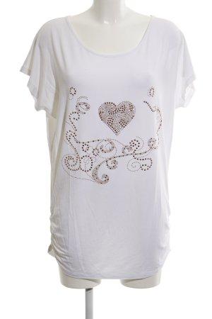 Mio Oversized Shirt weiß-roségoldfarben Casual-Look