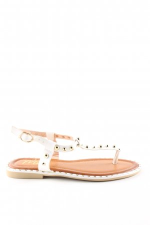 Mio Strapped Sandals white-gold-colored casual look