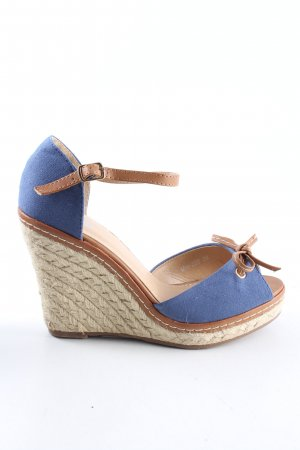 Mio Wedge Sandals blue-brown casual look