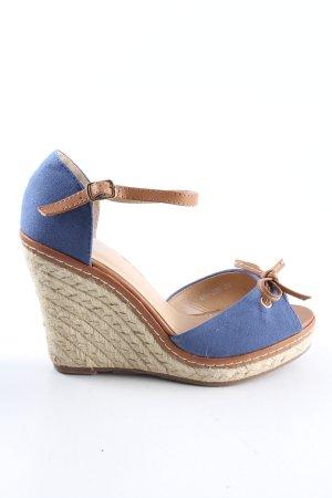Mio Sandały klinowe na obcasie niebieski-brązowy W stylu casual
