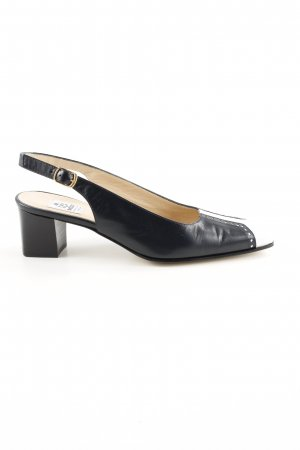 Slingback Pumps black-white casual look