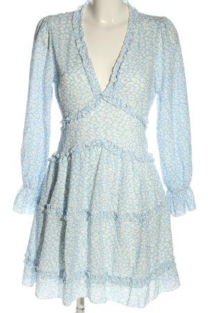 Mioni Italia Cut Out Dress blue-white casual look