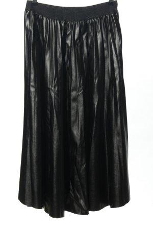 Mioni Italia Jupe en cuir synthétique noir style décontracté