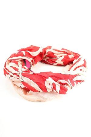 Miranda Konstantinidou Neckerchief red-cream abstract pattern casual look
